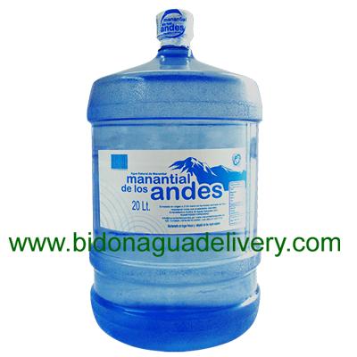 Bidon de Agua mineral Manantial de los Andes 20 litros retornable