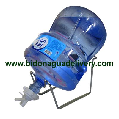 Soporte + Valvula + Envase + Bidon de Agua San Luis 20 litros retornable
