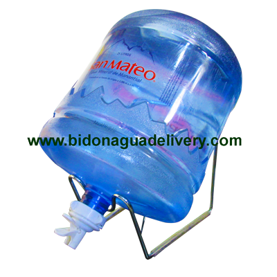 Soporte + Valvula + Envase + Bidon de Agua Mineral San Mateo 21 litros
